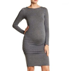 Tart maternity Presley gray ruched dress